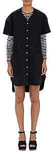 Public School WOMEN'S KADAR STRETCH-COTTON BOXY SHIRTDRESS-BLACK SIZE S