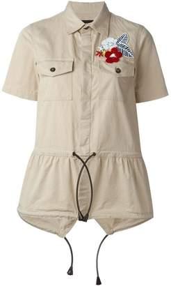 DSQUARED2 drawstring safari shirt