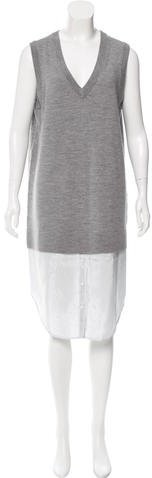 Alexander Wang T by Alexander Wang Wool Contrast Sweater Dress w/ Tags