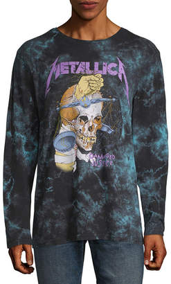 Novelty T-Shirts Metallica Damaged Graphic Tee