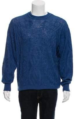 Valentino Linen-Blend Crew Neck Sweater