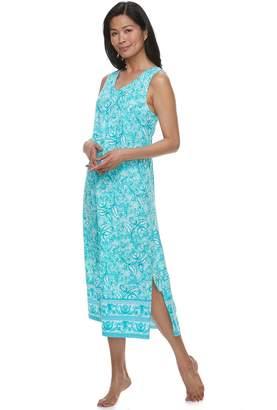 Croft & Barrow Women's Printed Maxi Nightgown