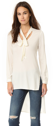 Ella Moss Stretch Stella High Low Blouse $158 thestylecure.com