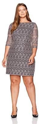 Jessica Howard Women's Plus Size Lace Shift Dress