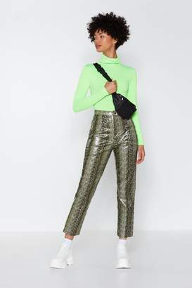 Nasty Gal FF-Snake Faux Leather Pants