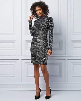 Le Château Sequin Long Sleeve Cocktail Dress