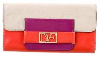 Diane von Furstenberg Colorblock Leather Wallet