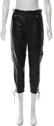 Isabel Marant Leather Mid-Rise Pants