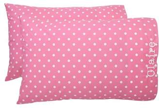 Pottery Barn Teen Dottie Pillowcases, Set of Two, Standard, Bright Pink