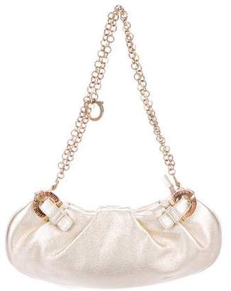 Salvatore Ferragamo Metallic Leather Mini Bag