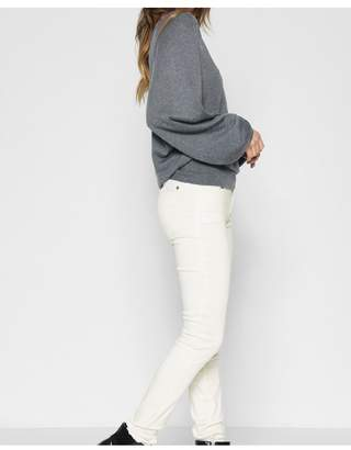 7 For All Mankind BAir Color Ankle Skinny With Faux Pockets In Pearl
