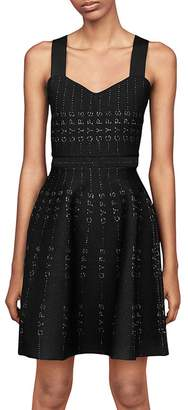 Maje Gyps Metallic Detail Dress