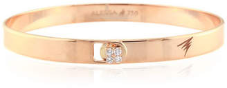 Alessa Jewelry Spectrum 18k Rose Gold Bangle w/ Diamond Clasp, Size 18