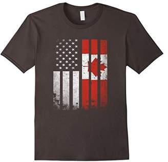 Canada Flag T-Shirt Canadian America Flag Vintage Shirt