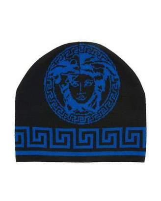 Versace Men's Medusa Head Intarsia Beanie Hat
