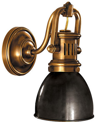 Visual Comfort & Co. Yoke Suspended Sconce - Antiqued Brass