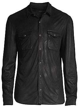 John Varvatos Men's Coated Button-Front Shirt