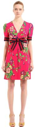 Gucci Floral Printed Stretch Jersey Dress