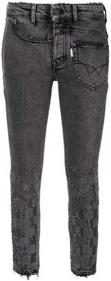 Filles a papa Crystal Checkerboard skinny jeans
