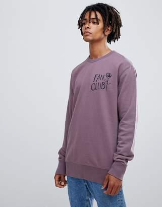 Wood Wood Fan Club sweatshirt in purple