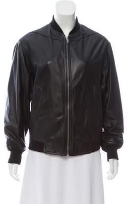 Theyskens' Theory Leather Bomber Jacket