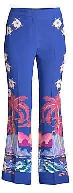 Etro Women's Tropical Floral Flared Pants