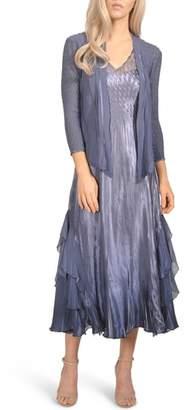Komarov Waterfall Midi Dress with Jacket