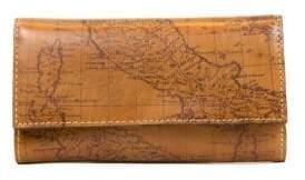 Patricia Nash Terresa Map Print Leather Wallet