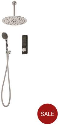 Triton HOME Digital Mixer Shower With Diverter, Round Wall Outlet And Round Fixed Drencher Head - Pumped