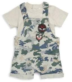 Baby Boy's Two-Piece Cotton Tee and Shortalls Set