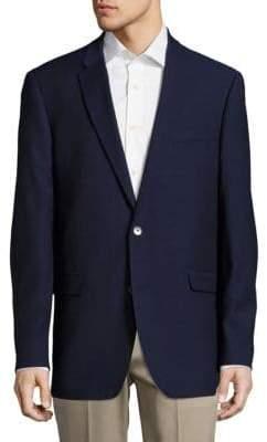 Tommy Hilfiger Classic Fit Mini Hopsack Wool-Blend Blazer