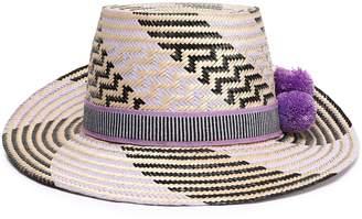 Yosuzi Marlee Pompom-embellished Woven Straw Sunhat
