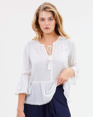 Sass Giddy Up Dobby Lace Blouse