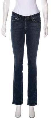 Paige Novick Low-Rise Straight-Leg Jeans