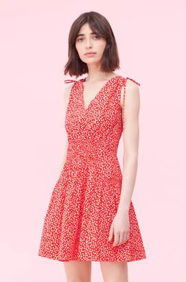 Rebecca Taylor Malia Floral Tie Poplin Dress