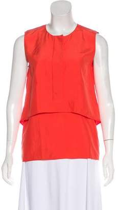 Cédric Charlier Sleeveless Tiered Top