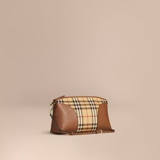 Burberry Horseferry Check and Leather Clutch Bag $895 thestylecure.com