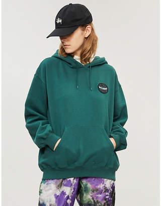 Stussy Logo patch cotton-jersey hoody