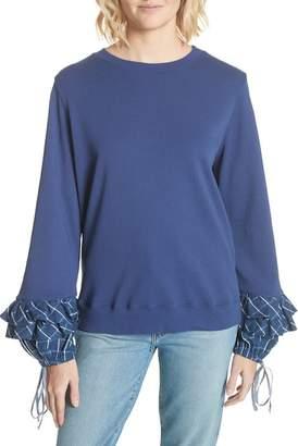 Clu Plaid Cuff Sweatshirt