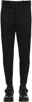 Neil Barrett 16cm Stretch Gabardine Cargo Pants