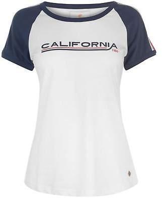 Soul Cal SoulCal Womens StripeBbl T Crew Neck Shirt