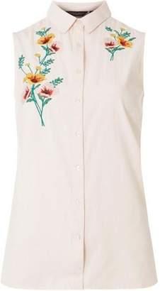 Dorothy Perkins Womens Pink Sleeveless Shirt