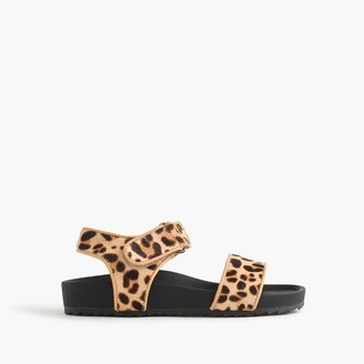 Girls' leopard slide sandals $59.50 thestylecure.com