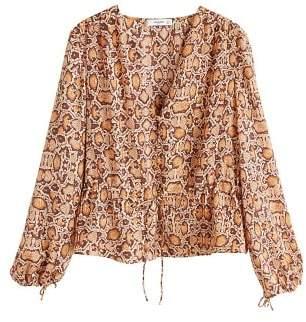MANGO Snake print blouse