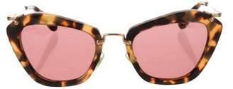 Miu Miu Tortoiseshell Cat-Eye Sunglasses