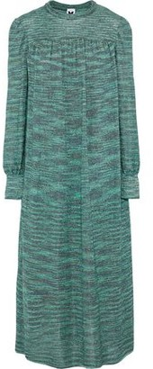 M Missoni Metallic Intarsia-Knit Midi Dress