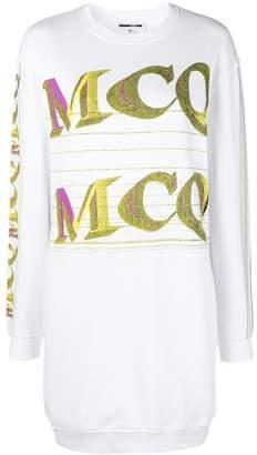 McQ repeat logo sweatshirt dress