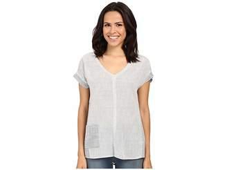 Mavi Jeans V-Neck Pocket Shirt Women's Short Sleeve Pullover