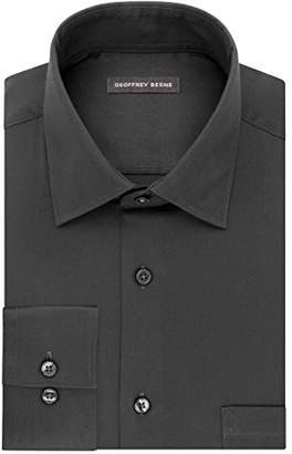 Geoffrey Beene Men's Dress Shirt Stretch Collar Reg Fit