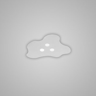 Zaneen design Nubes Semi Surface 3-Light LED Flush Mount design